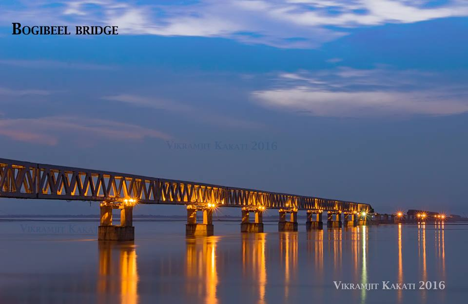 India's longest Rail cum Road Bridge ~ Bogibeel Bridge Dibrugarh