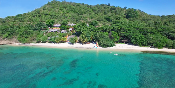 Laluna beach resort and villas on the island of Grenada
