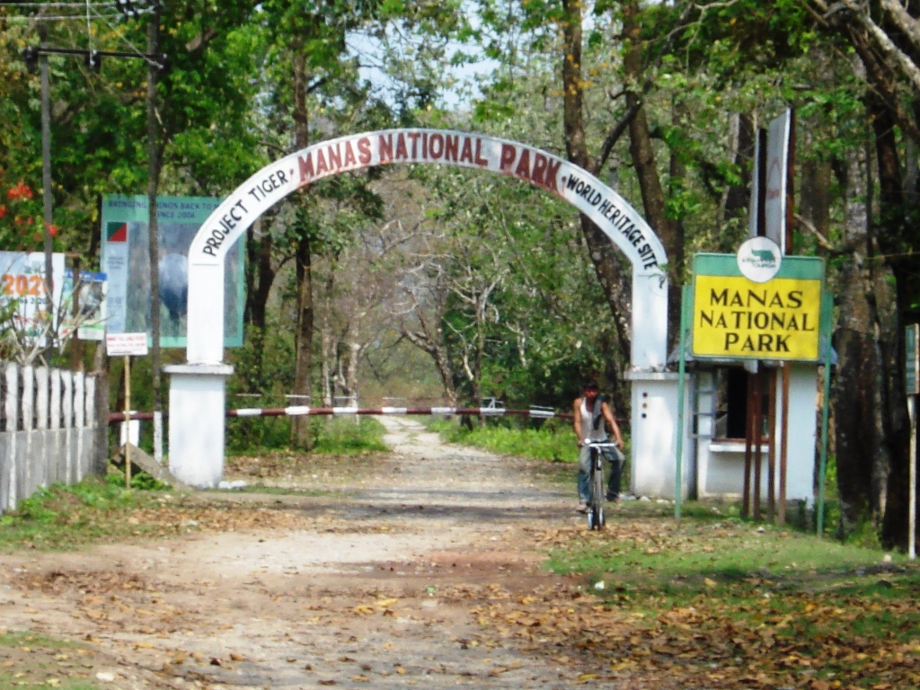 Project Tiger Reserve at the Manas National Park Entrance