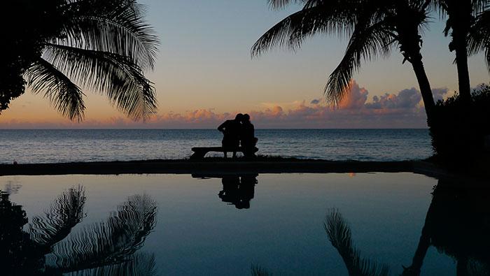 Amazing sunset Laluna resort