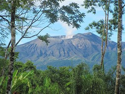 Views of the majestic, smoking volcano crater, Rincon de la Vieja,