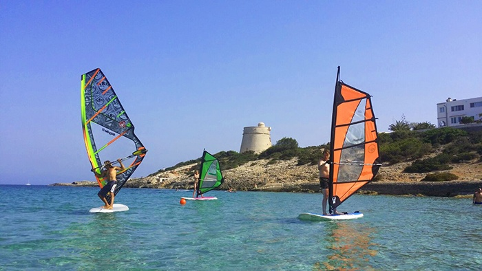 Windsurfing by Sa Sal Rossa