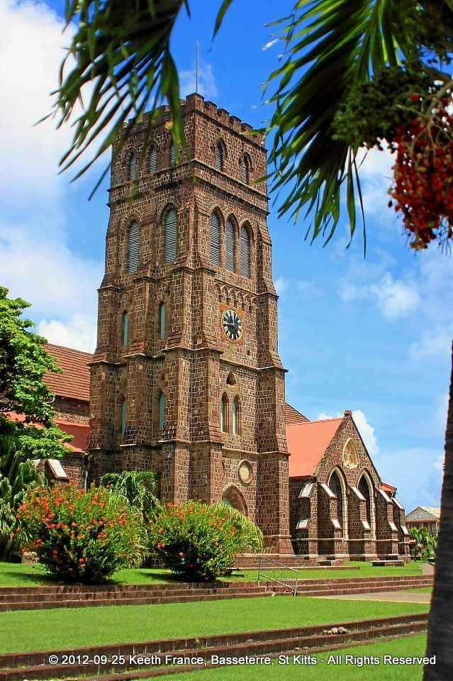 "This image shows ""the St.Georges Anglican church"" situated in the city of Basseterre."