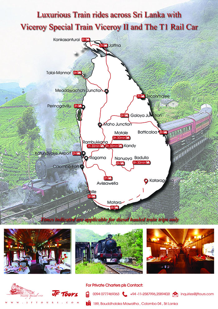 The Map toDiscover Sri Lanka by Rail