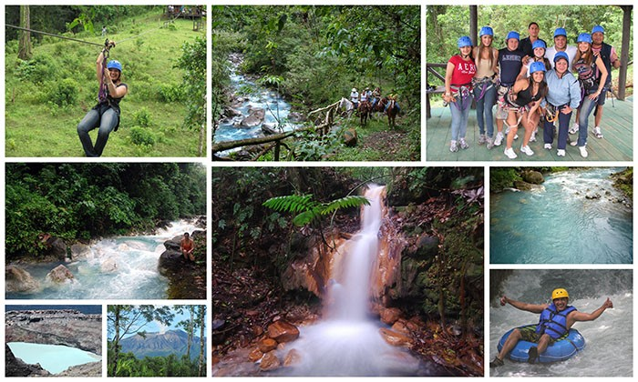Eco-Adventure Tours in the Jungle - hike, horseback, zip line, water tube, raft