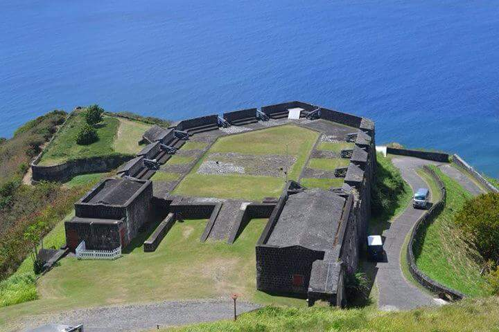 Brimstone hill fortress, the former british military base of the 17th. 18th. century also called the Gibraltar of the west indies.