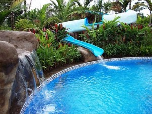Swim in Two Fresh Water Pools and a Bullet Water Slide