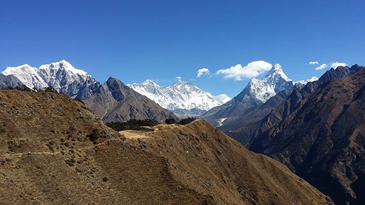Everest panorama with Mt. Amadablam