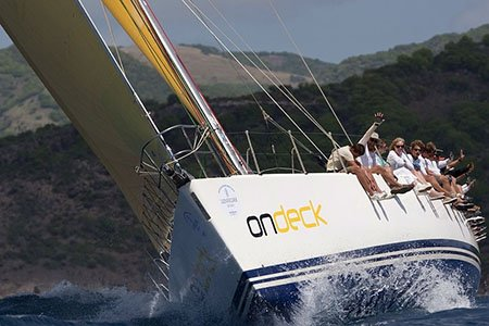 Racing in the Caribbean Regattas. novices welcome