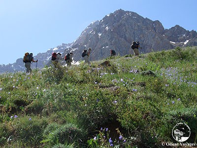 Tajikistan,Fann mountains, crossing Munora pass