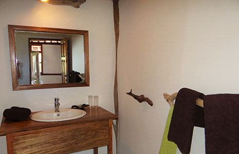 The Beach Bungalows offer a spacious bathroom