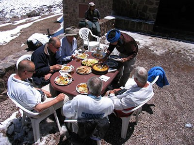 Lunch after the ascent of Toubkal Small