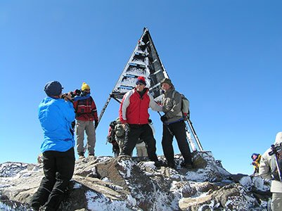 On the summit of Toubkal-4167m