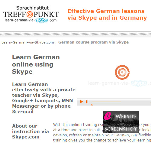 Learn German via Skype