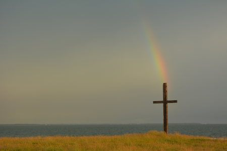 The cross at the tip of Black Walnut Point
