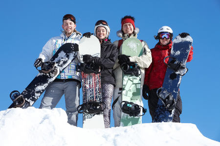 Group ski holidays in the mountains