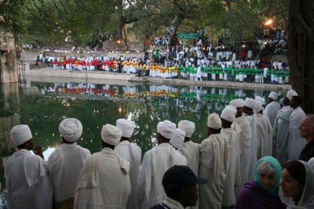 A colourful Celebration of Timiket(Ethiopian Ephiphany) at Gondar