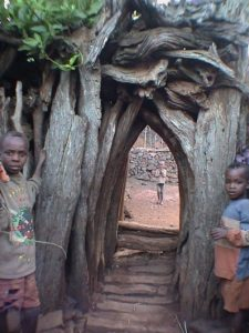 A gate to Konso village