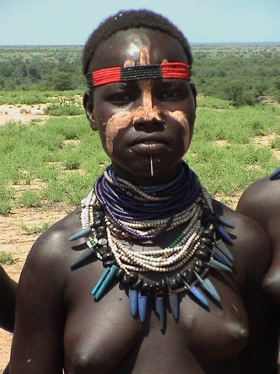 A woman from Karo tribes of Omo Valley Tribes