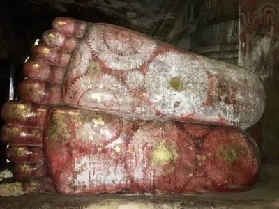 Buddha's feet Dambulla Cave Temple Sri Lanka
