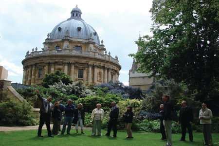 Exeter College Garden with Radcliffe Camera in Background