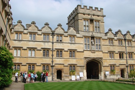 University College with James II statue above entrace archway