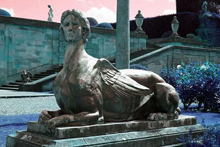 Blenheim Palace garden statue