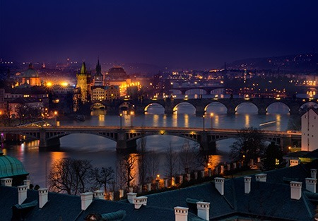 Prague Night view