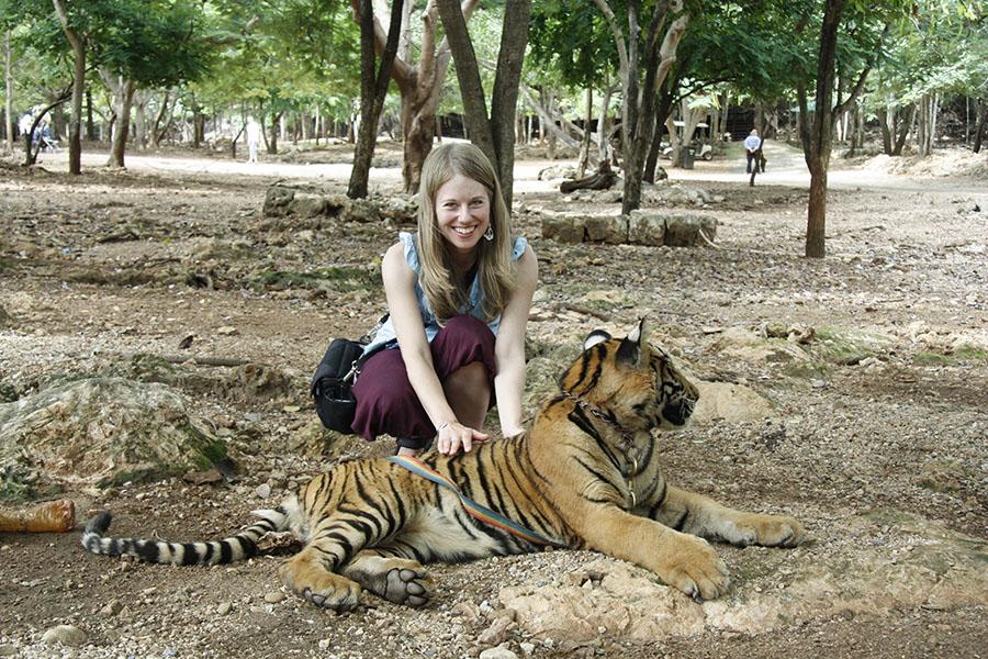 Tiger & girl