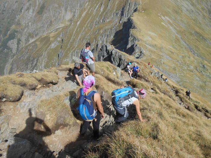 Return from Moldoveanu Peak